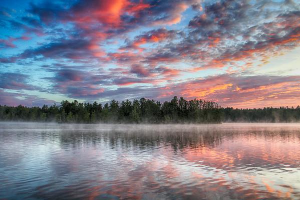 Square Pond Sunrise Sunset