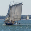 The Grace Baily under full sail. J&E Riggin in the backgroud.