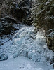 In Vermont, winter had started.  Moss Glenn Falls in Granville Gulf was iced up.