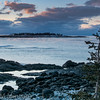 View of Schoodic Island from Blueberry Hill, Acadia National Park, Schoodic, Peninsula, Maine - February 2016