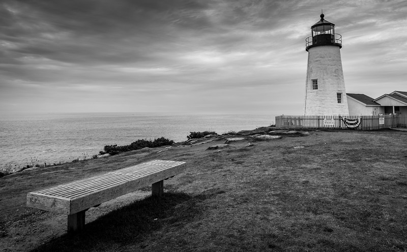The Bench at Pemaquid Point Lighthouse