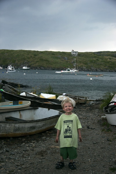 """Is My Smile Big Enough? Pre storm on Monhegan Island, Maine"" color photo"