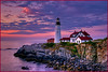 Sunrise at Portlandhead Lighthouse - Maine Coast - Don Plocher - August 2010
