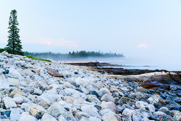 Beachgoers / Acadia National Park