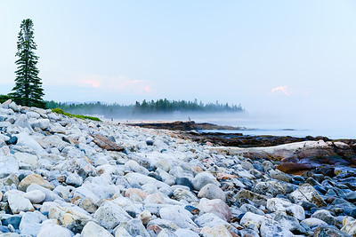 Beachgoers / Acadia National Park