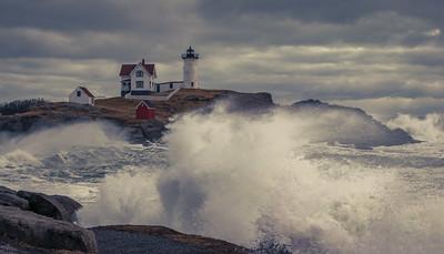 Nubble Light Stormy Seas