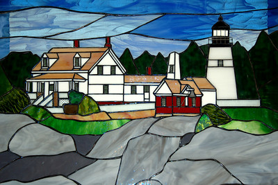 Stained Glass Window of the lighthouse
