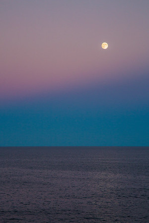 Moon over Atlantic Ocean