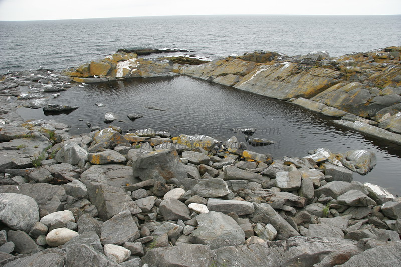 """Monhegan Natural Pool, Maine,"" color photo"