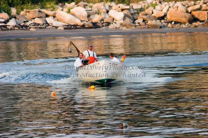 """""""Lobstermen Zooming Forward,"""" color photo"""