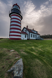 West Quoddy Head Lighthouse afternoon - vertical
