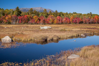 Compass Pond and Mt. Katahdin, North Maine Woods.