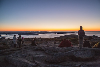 Cadillac Mountain Sunrise, Acadia National Park, Mount Desert, Maine, USA