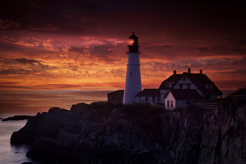 Dawn, Portland Head Lighthouse, Maine