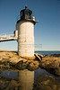 Marshall Point Lighthouse Reflecting in Rock Pool