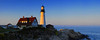 Sunset at Portlandhead Lighthouse - Panoramic 6 vertical images - Maine Coast - Doug Beezley - August 2010