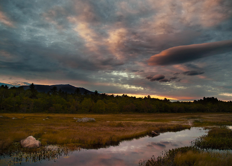Sunset on Mount Katahdin