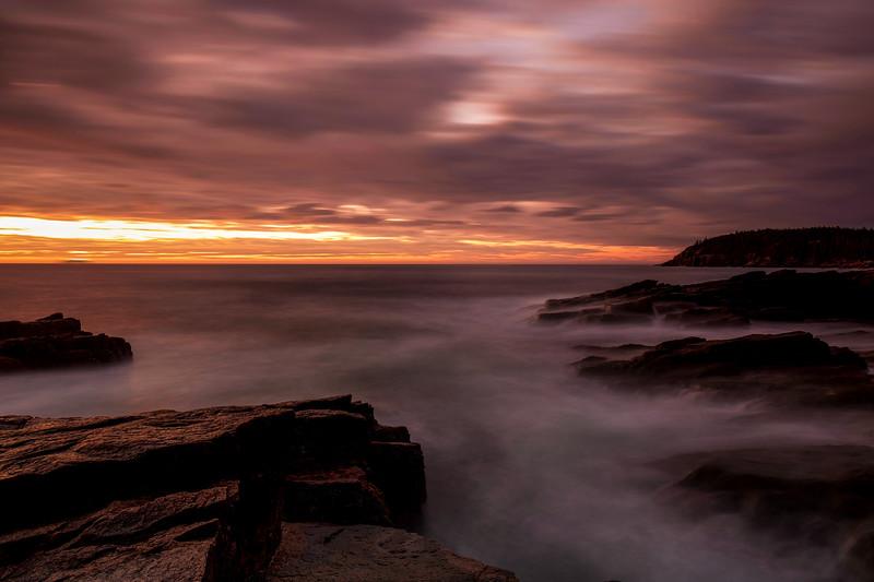 Sunrise At Thunder Hole, Acadia National Park