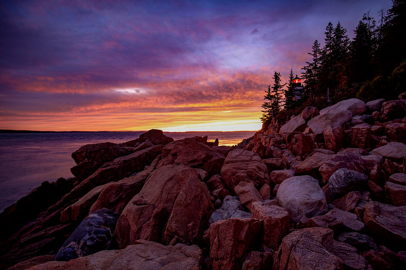 Sunset, Bass Harbor Lighthouse, Acadia National Park