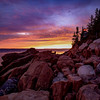 Sunset, Bass Harbor Lighthouse, Acadia National Park