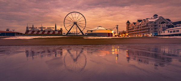 Old Orchard Beach Winter Reflection