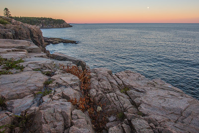 Atlantic Ocean with Moon and Cliffs, Cooksey Drive Overlook