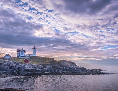 Nubble Lighthouse sunrise - October 7, 2017