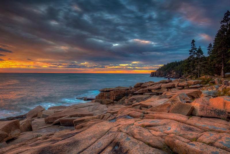 Coastline At Monument Cove,  Acadia National Park