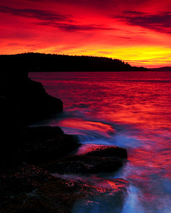 Sunrise near Otter Cliffs - Acadia National Park, Maine - John Remy - August 2010