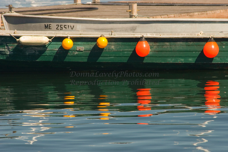 Green Boat with Bright Bumpers, Tenant Harbor, Maine