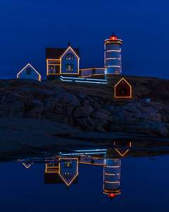Nubble Light Reflections, York