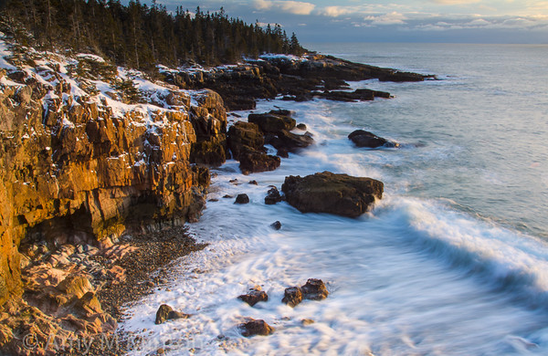 Sunset at the Ravens Nest, Acadia National Park, Schoodic Peninsula, Maine - February 2016