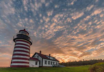 West Quoddy Light Sunset