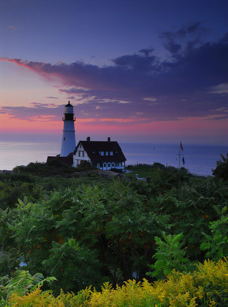 Sunrise at Portlandhead Lighthouse - Maine Coast - Doug Beezley - August 2010