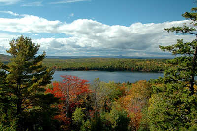 Beautiful Jordan Pond on Mount Desert Island in Maine.