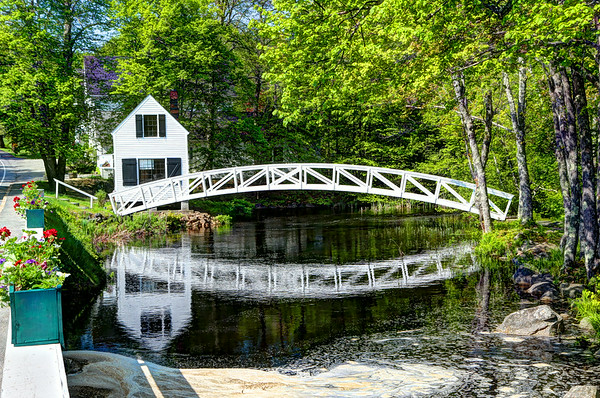 A foot bridge located in Somesville, Mt. Desert Island, Maine.