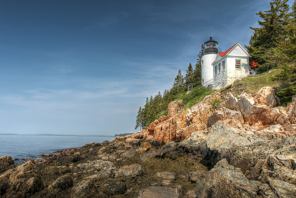 Bass Harbor Head Light is located at the south entrance of Blue Hill Bay, at the southwestern end of Arcadia National Park.  It was built in 1858 and sits atop a rocky granite shoreline.
