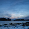 Sunset at West Pond Cove, Acadia National Park, Schoodic Peninsula, Maine - February 2016