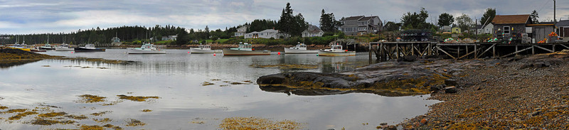 Corea, Maine Lobster Fleet - Panoramic - 8 vertical images - Maine - Doug Beezley - August 2010