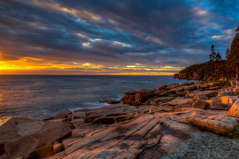 Sunrise At Monument Cove, Acadia National Park