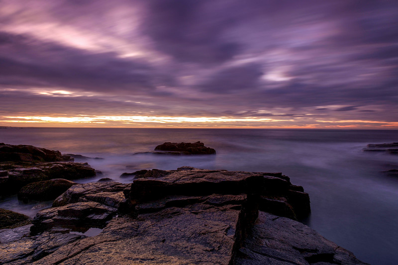 Dawn At Thunder Hole, Acadia National Park