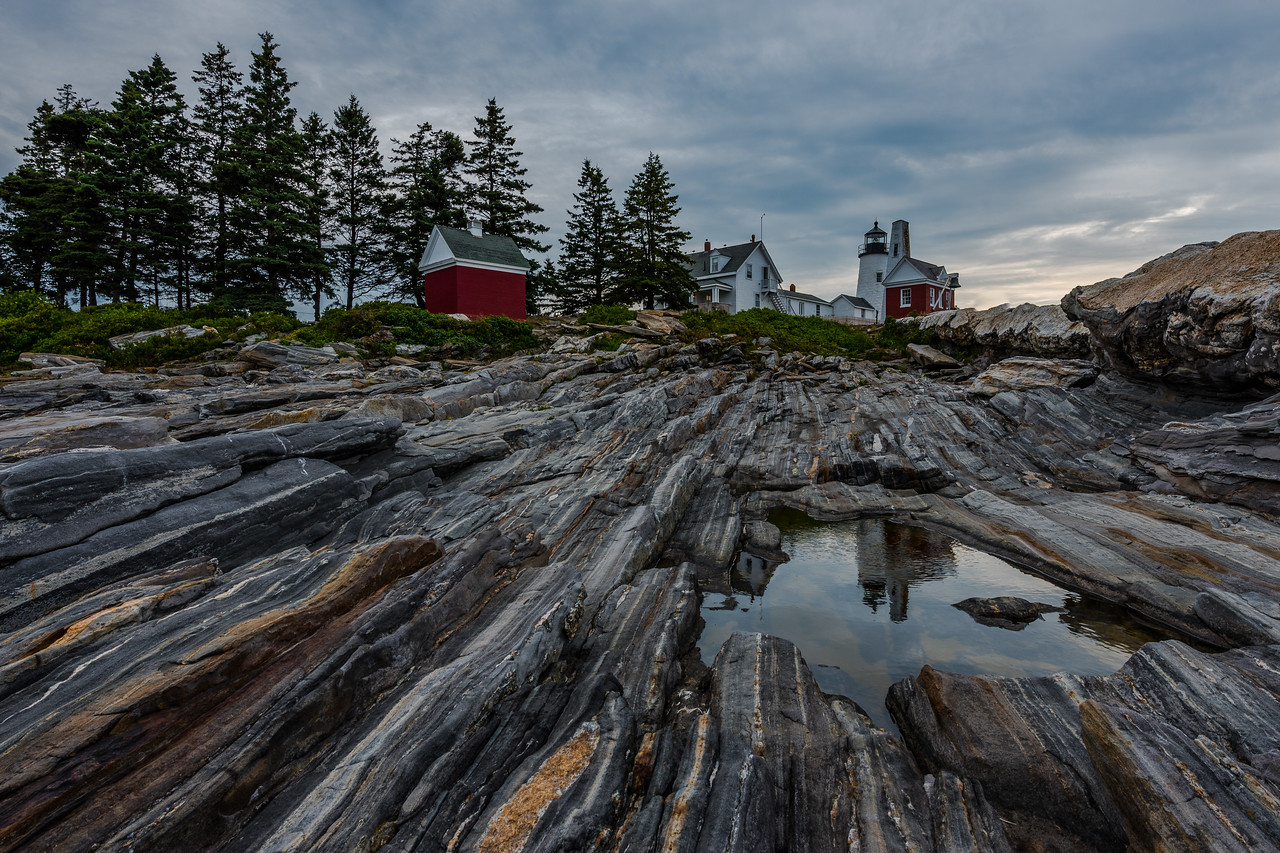 Pemaquid Point Reflection (the most famous puddle in Maine)