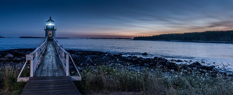 Marshall Point Light Blue Hour