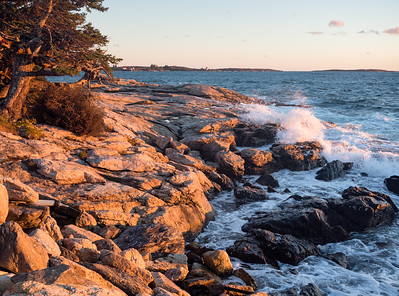Sunset at Ocean Point, East Boothbay, Maine  -230204