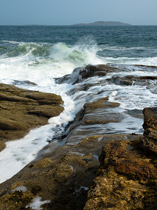 Crashing Waves on Fox Island, Phippsburg, Maine  (51151)