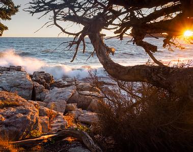 Autumn Sunset, Ocean Point, East Boothbay, Maine  -230196