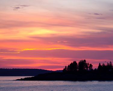 Linekin Bay Sunset, East Boothbay, Maine (23145)