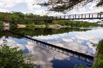 Swing Bridge over the Androscoggin River, Brunswick, Maine (67917)