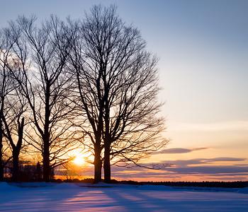 Winter Sunset, Brunswick, Maine (78594)