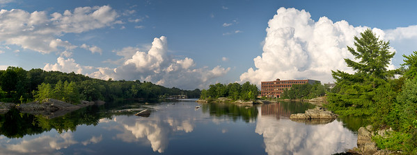 Androscoggin River and Fort Andross, Brunswick, Maine (40152-40166 PANO)